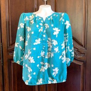 ANN TAYLOR LOFT 3/4 Sleeve Pullover Blouse